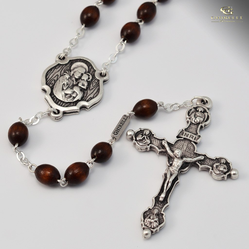 St. Joseph Rosary in Silver