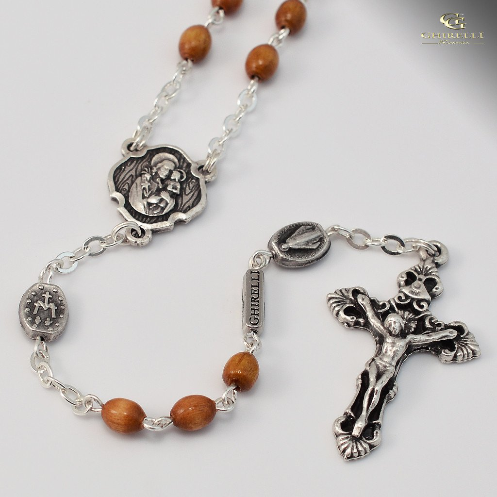 St. Joseph silver plated Rosary