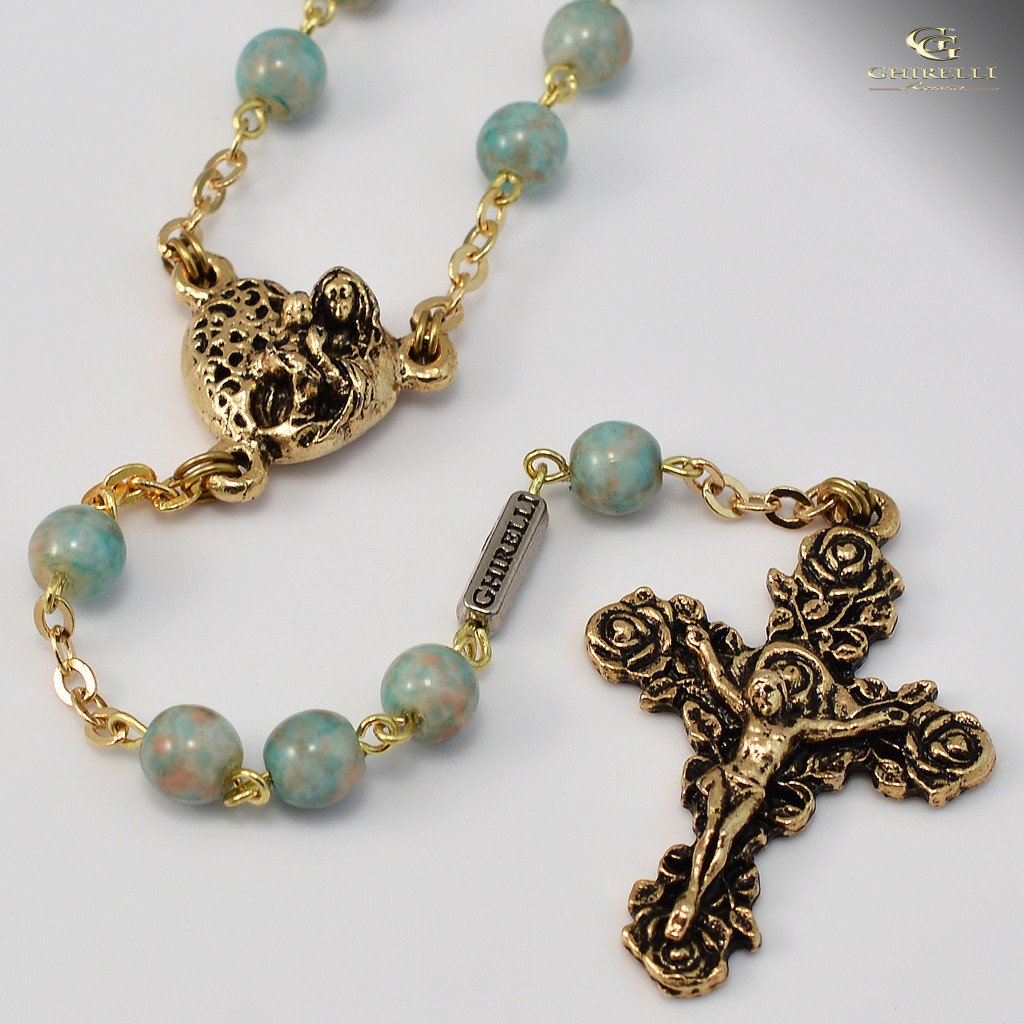 St. Valentine gold plated Rosary