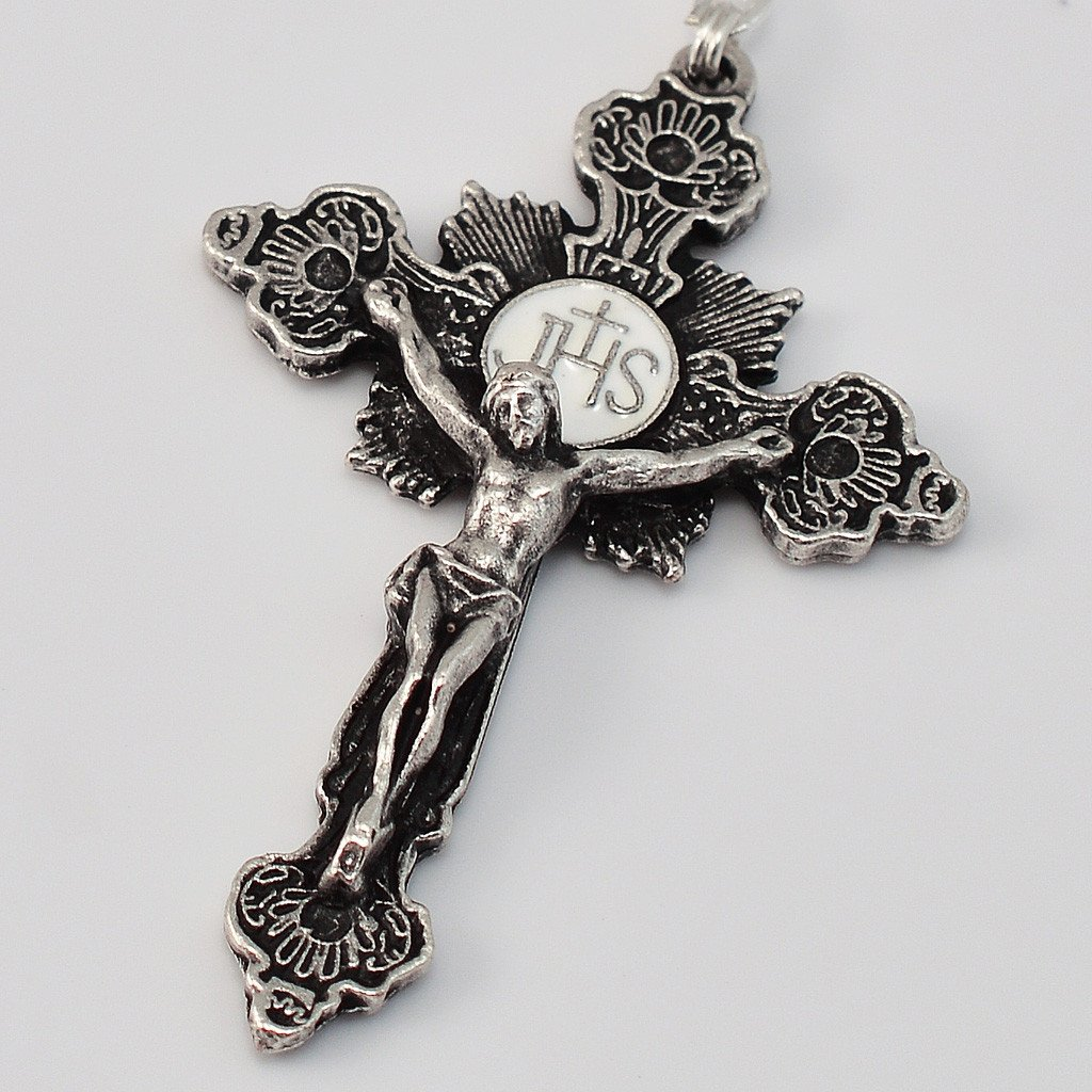 St. Valentine silver plated Rosary