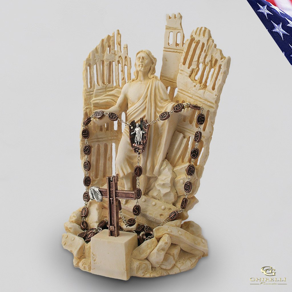 9/11 Resin Rosary Holder Sculpture
