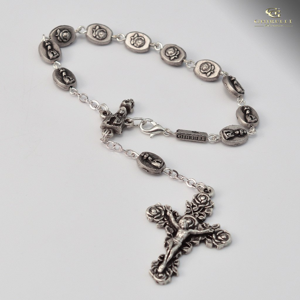 Fatima Apparition Ghirelli silver plated decade Rosary