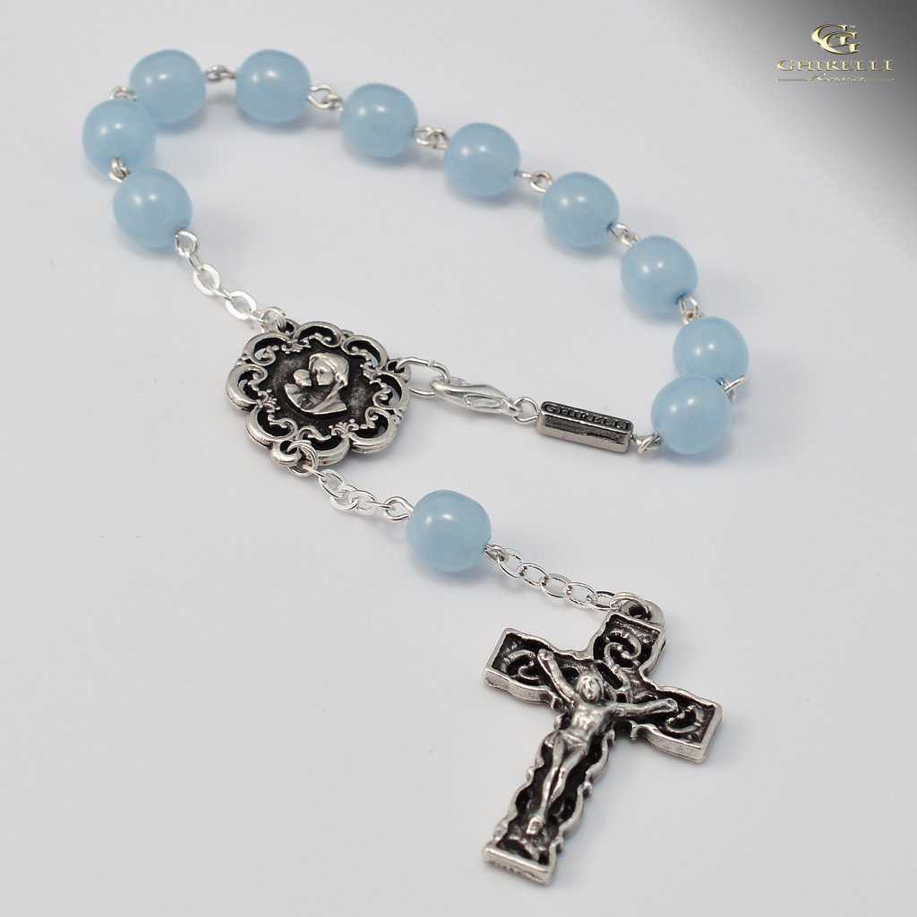 Motherly Embrace Ghirelli silver plated decade Rosary