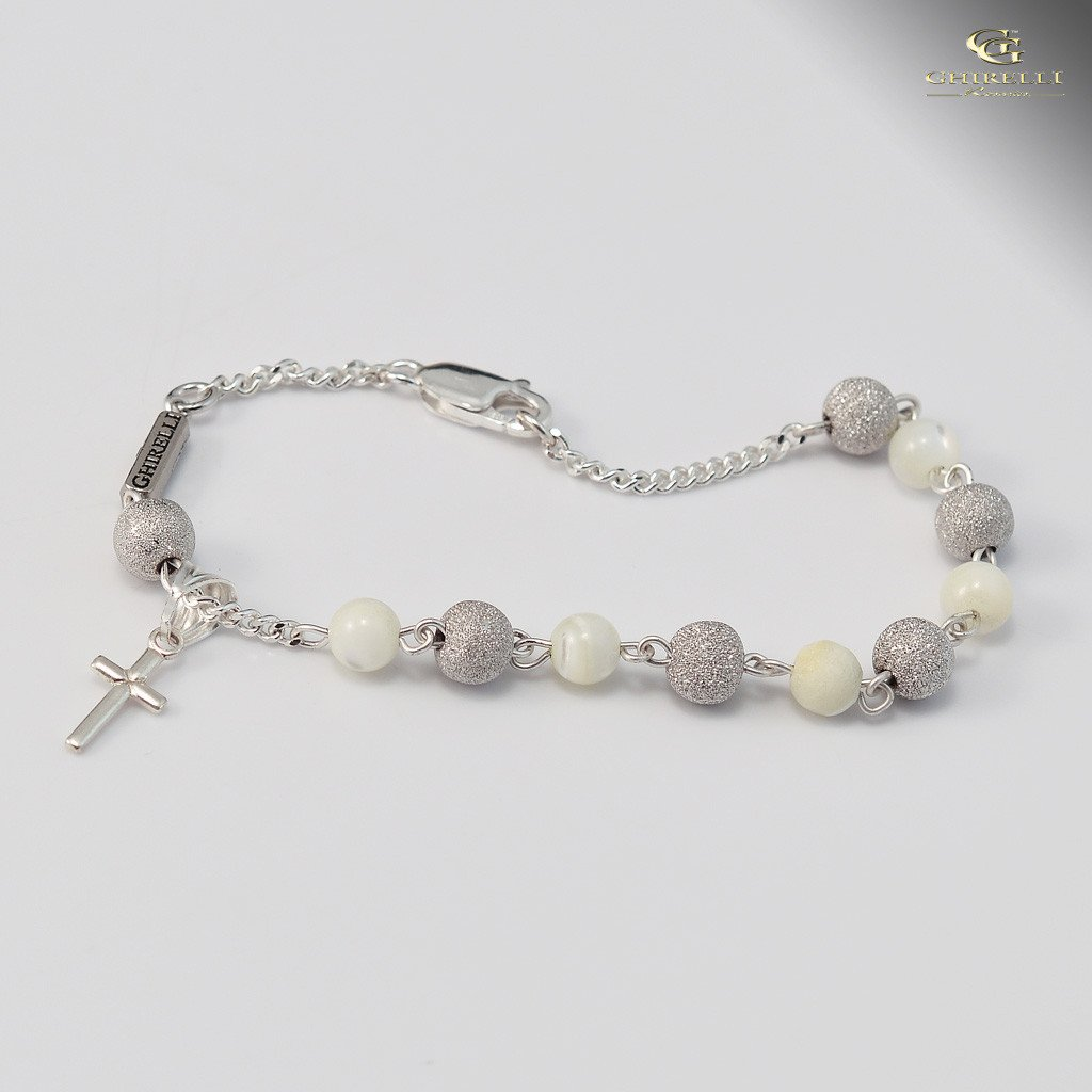 Sterling silver Mother-of-Pearl precious bracelet