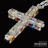 OTHER PRODUCTS - Swarovski (r) Crystal & Sterling Silver Ghirelli Cross Pendant, Rhodium Plated Finish