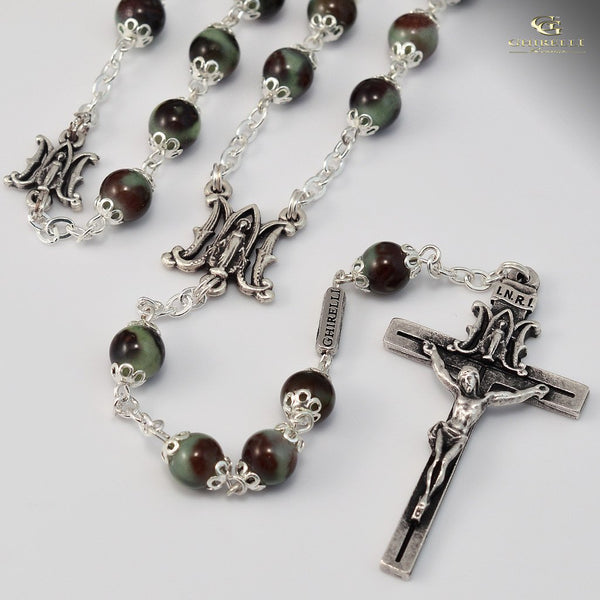 Annunciation Silver Plated Rosary Ghirelli Rosaries