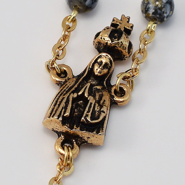 Fatima gold plated rosary ghirelli rosaries