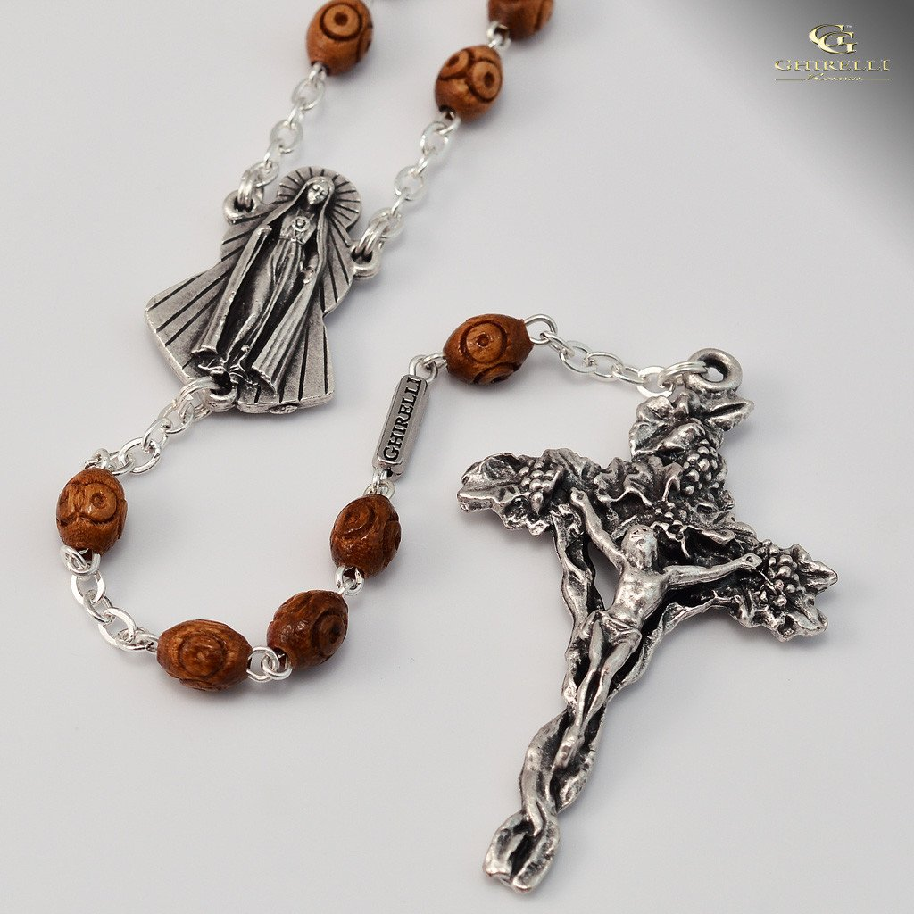 Fatima Rosary with Wooden Rosary Beads