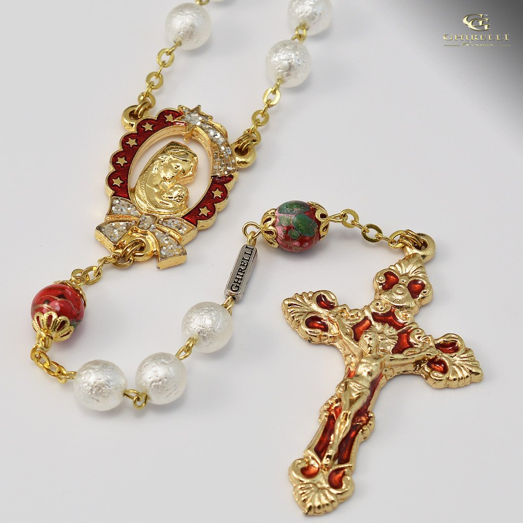 Holy Christmas gold plated Rosary