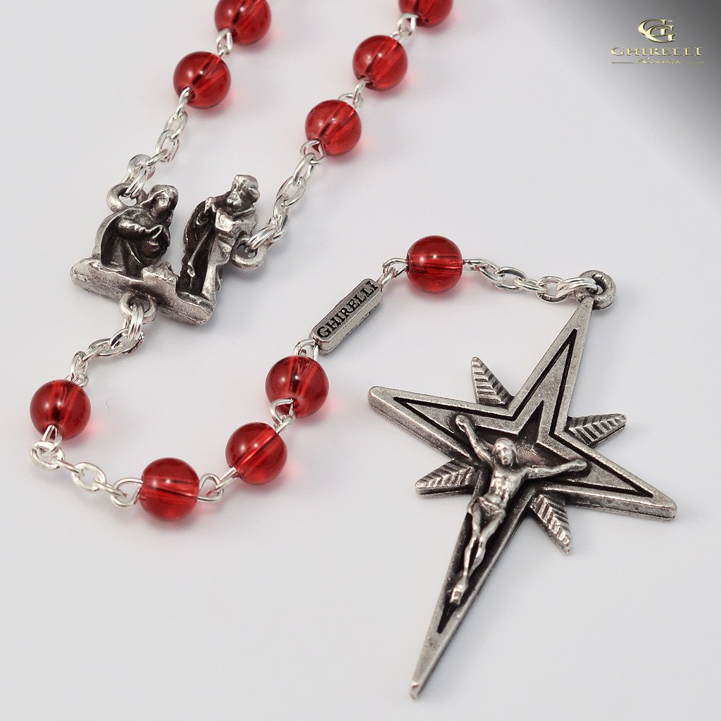 Holy Christmas silver plated Rosary