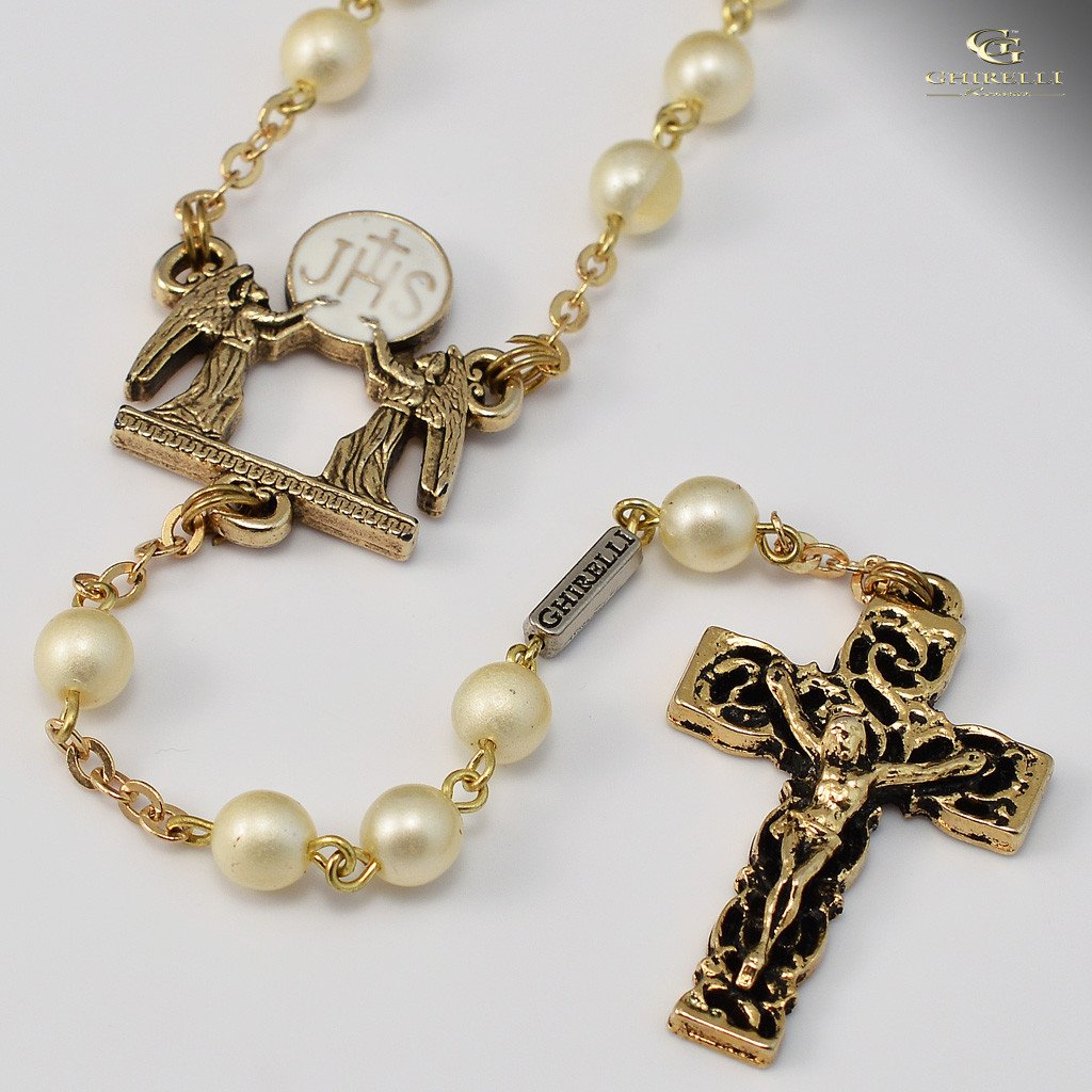 Holy Communion gold plated Rosary