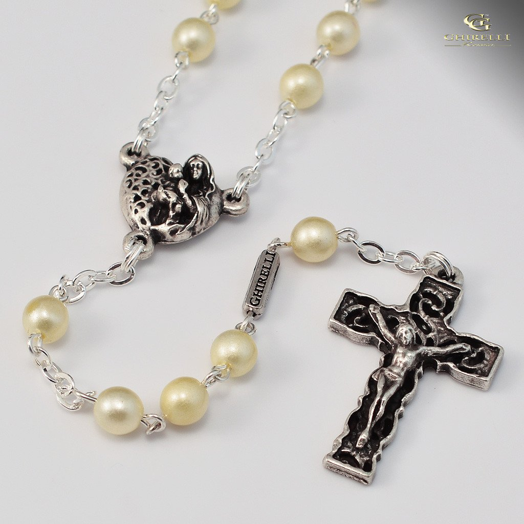 Holy Communion silver plated Rosary