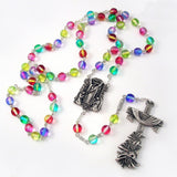 ROSARIES - Holy Easter Multicolored Rosary In Antique Silver