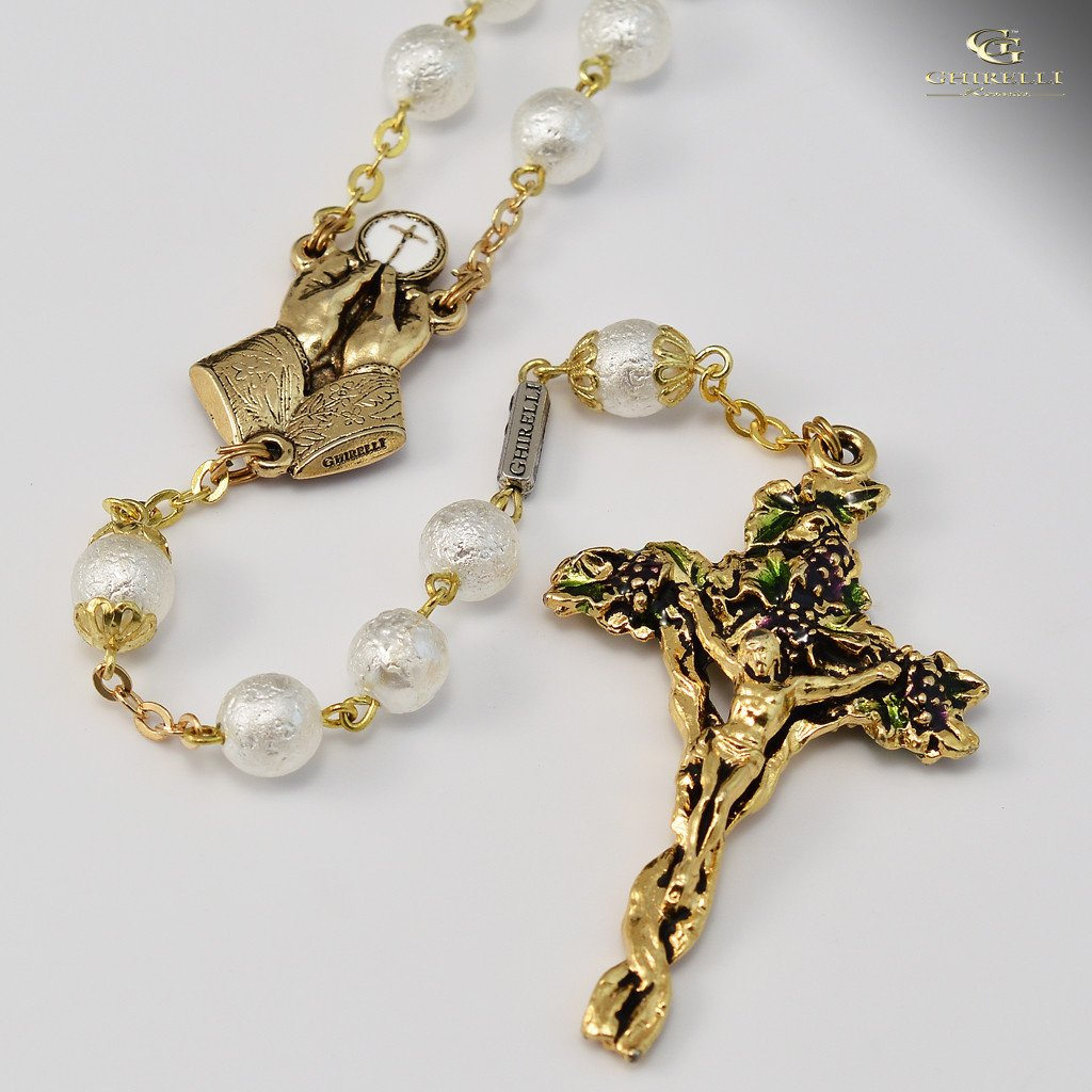Holy Eucharist Gold Plated Rosary