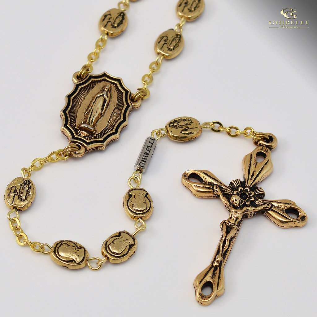 Lourdes gold plated Rosary