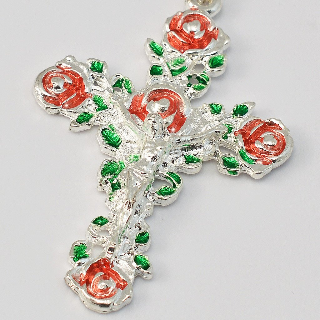 Lourdes silver plated Rosary