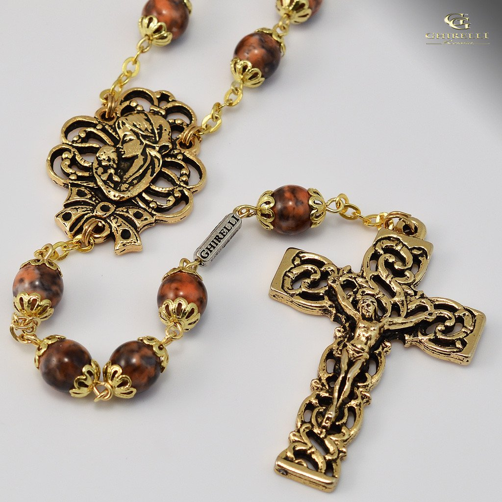 Mary's Motherly Love Collection gold plated Rosary