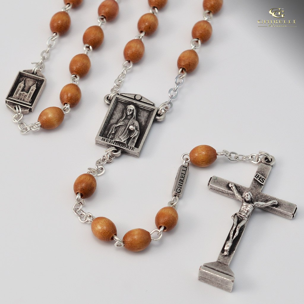 Medjugorie silver plated Rosary