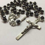 ROSARIES - Our Lady Undoer Of Knots Hematite Faceted Glass