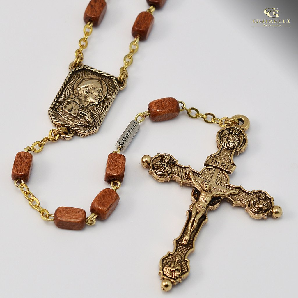 St. Francis of Assisi gold plated Rosary