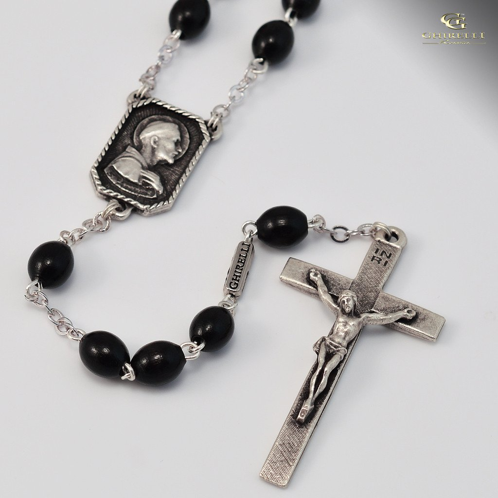 St. Francis of Assisi Rosary in Silver