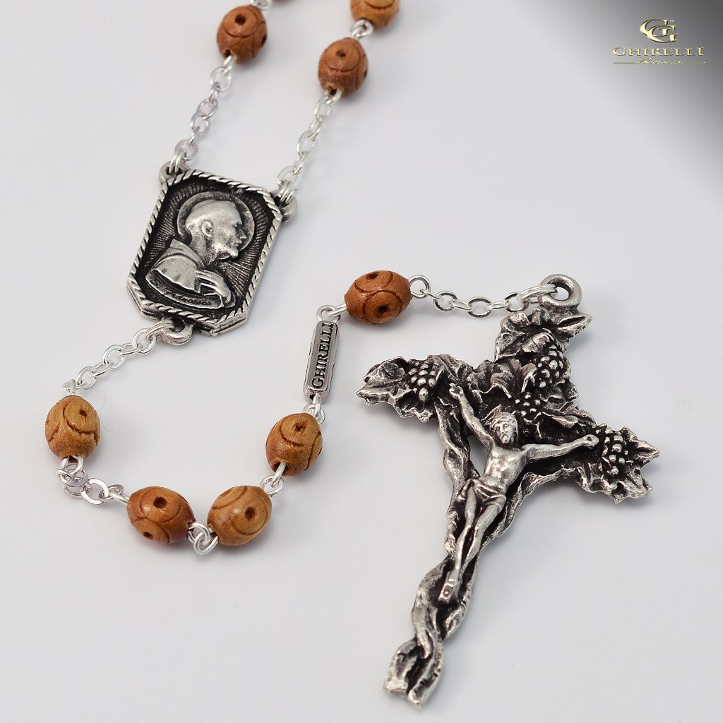 St. Francis of Assisi silver plated Rosary
