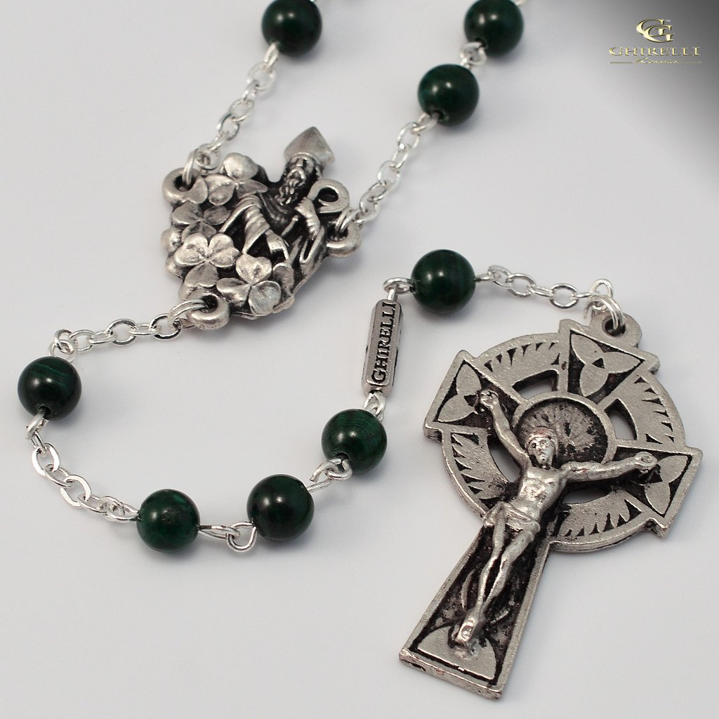 St. Patrick silver plated Rosary