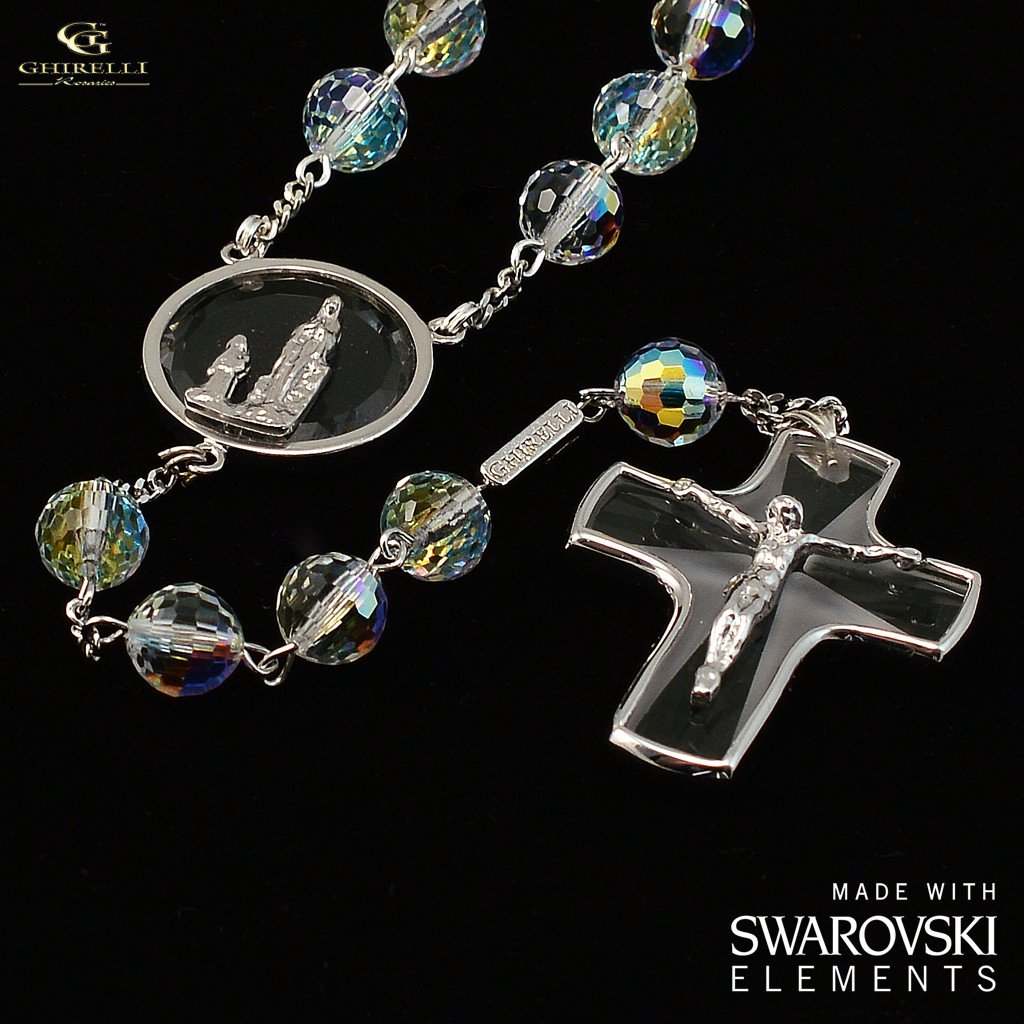 Crystalline Silvers: Beautiful Catholic Rosaries Made In Italy