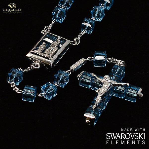 Swarovski R Crystal And Sterling Silver Precious Rosary
