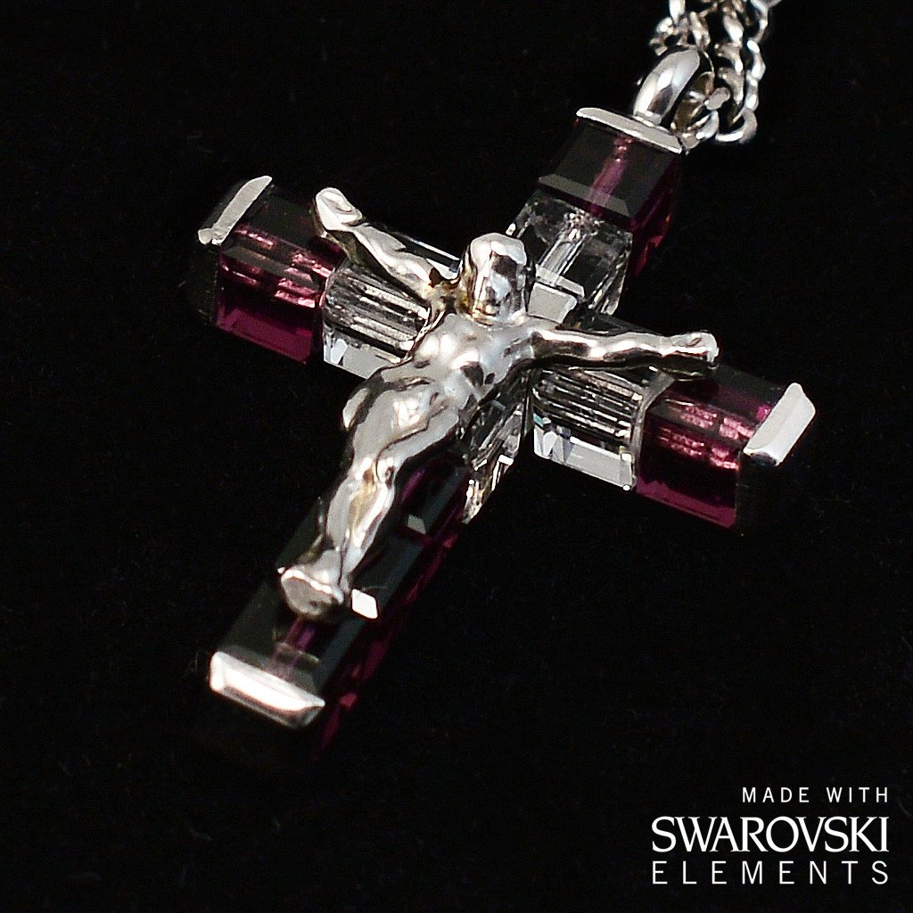Swarovski (r) Crystal and Sterling Silver Precious Rosary, rhodium plated finish
