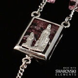 ROSARIES - Swarovski (r) Crystal And Sterling Silver Precious Rosary, Rhodium Plated Finish