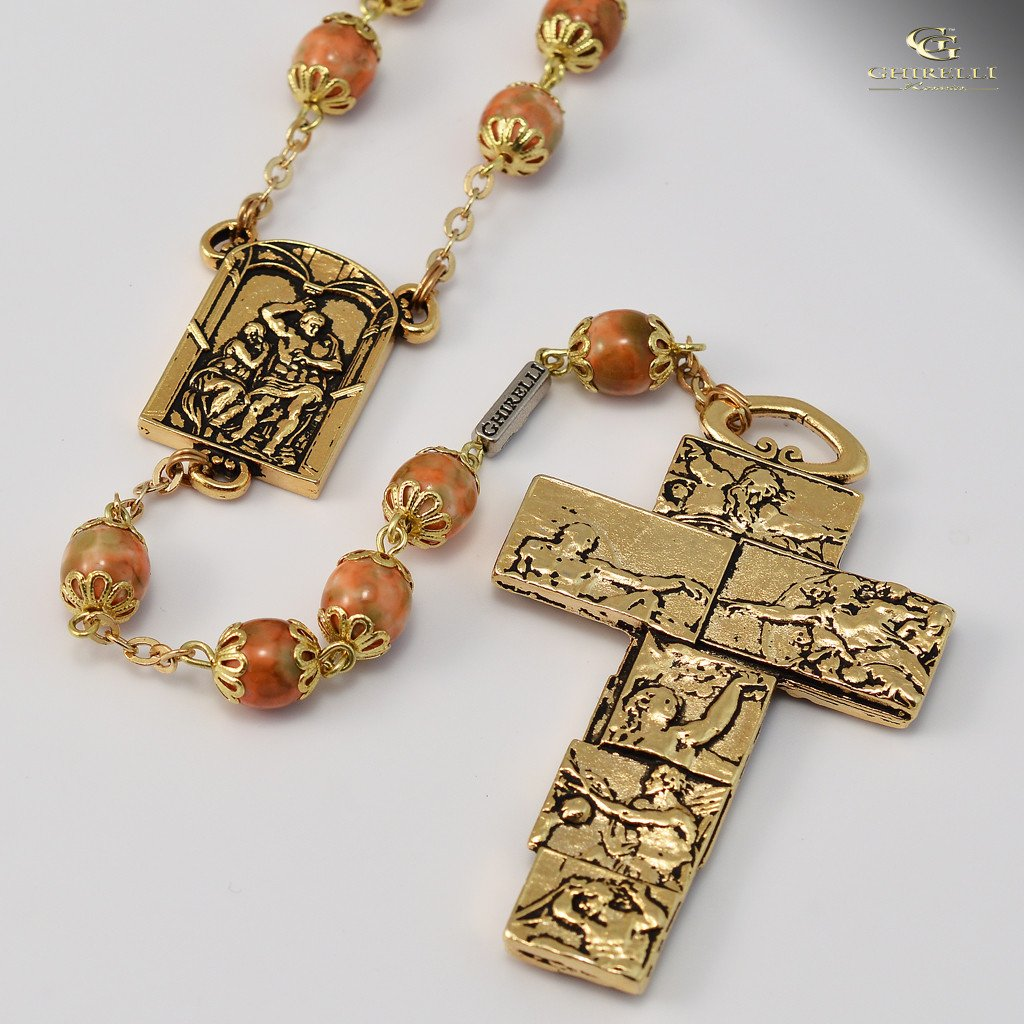 Vatican Museums gold plated Rosary