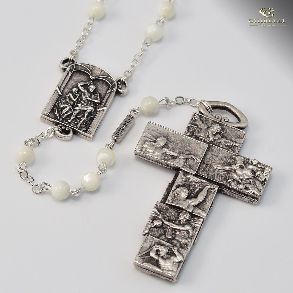 Vatican Museums silver plated Rosary