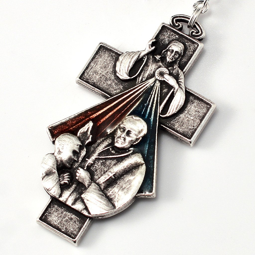 Penance and Mercy Rosary with Bohemian Glass beads by Ghirelli