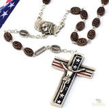 UNIQUE CREATIONS - The USA Rosary In Antique Silver