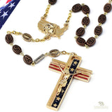 UNIQUE CREATIONS - The USA Rosary In Gold Finish