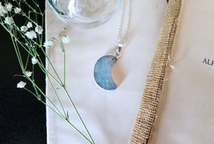 Agate Crescent Moon Necklace
