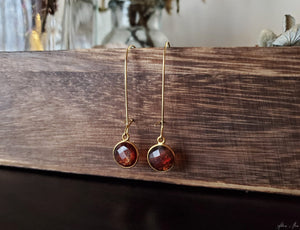 Copper Infused Quartz Drop Earrings