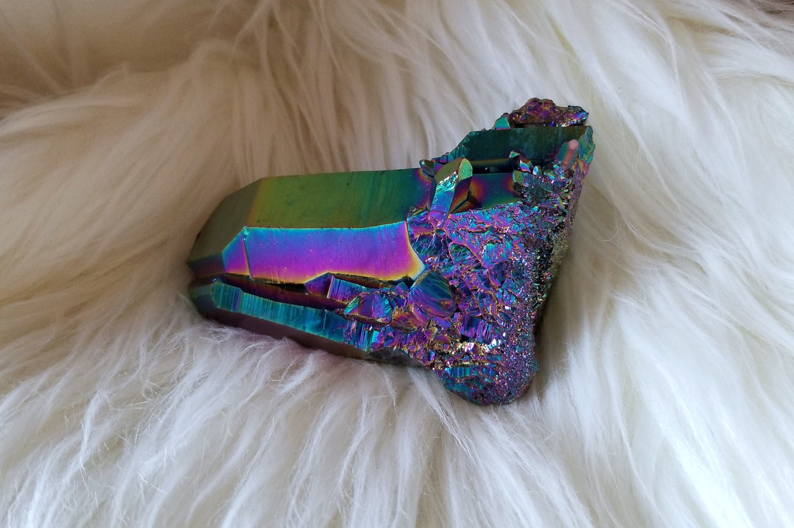 Titanium Aura Quartz Point