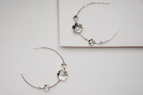 The flower power large hoops