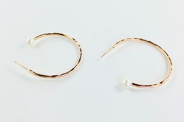 The Dreamer large pearl hoops