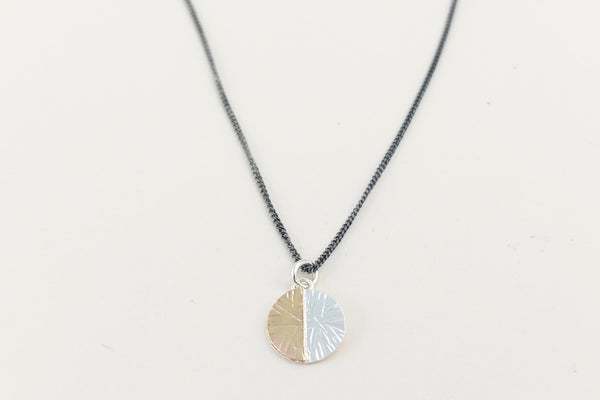 The duality small disc charm necklace
