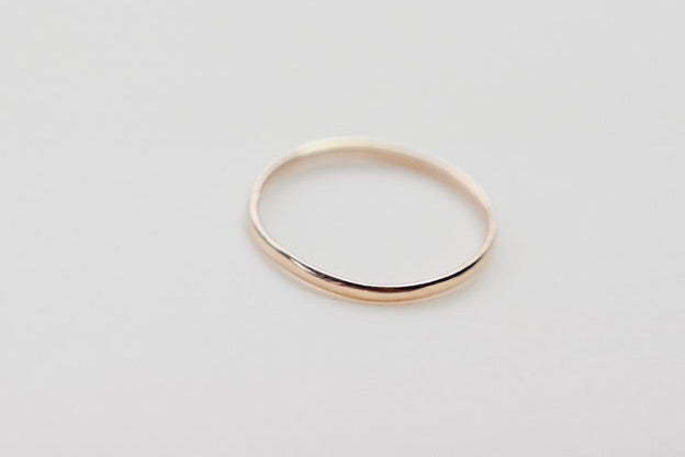 The gold simple stacker ring