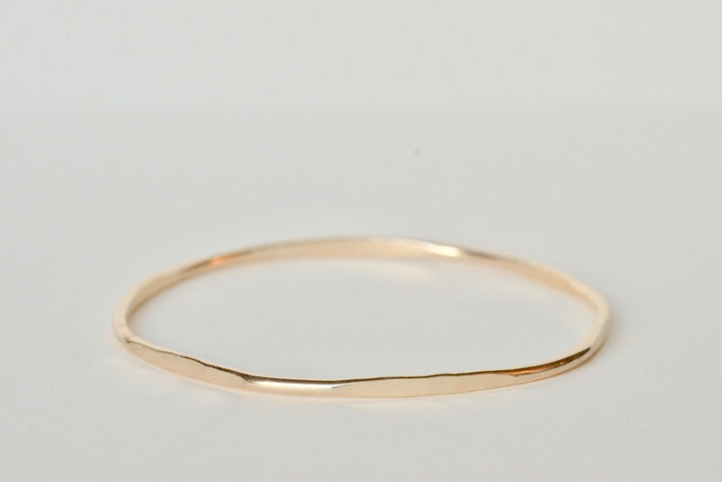 Our gold hex stacking bangle