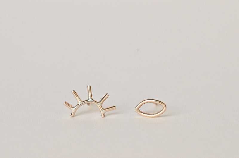 Our pair of gold open eye studs