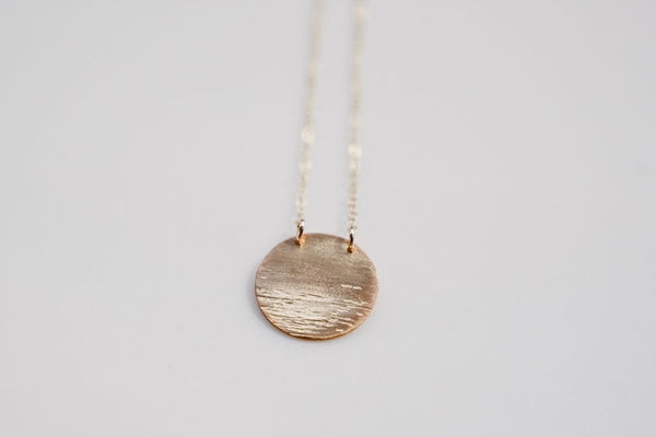 Moon Over Water Gold-filled Necklace