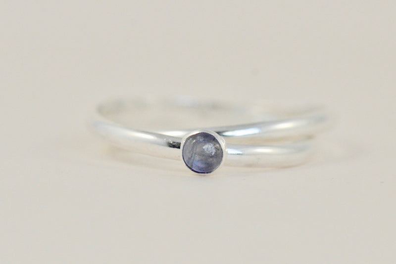 Our silver orbit meditation ring with Gemstone
