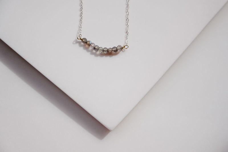 Silver Strand Gemstone Necklace
