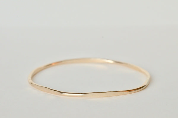HEX BANGLE STACKING GOLD BRACELET