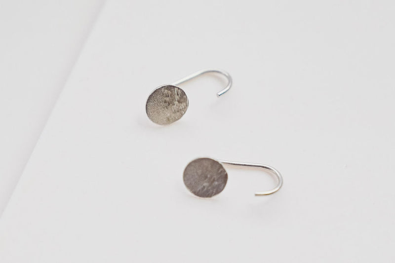 Our Pair of silver moon jhook earrings